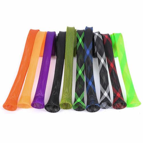 1PCS Rod Sock Fishing Rod Sleeve Rod Cover Braided Mesh Rod Protector Pole US