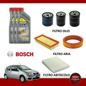Kit-tagliando-Fiat-Punto-II-2-188-1-2-8v-44kw-60cv-benzina-3lt-Castrol-GTX-10W40
