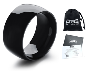 Anello-Fascia-Uomo-Donna-Unisex-Acciaio-Stainless-Steel-1-10-cm-incisione-Black