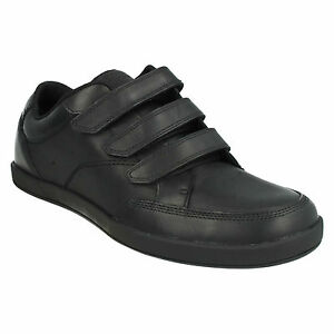Casual Frontside Black Clarks de Spin Triple Smart cuero Work Riptape School para hombre Shoes SzrFqfS