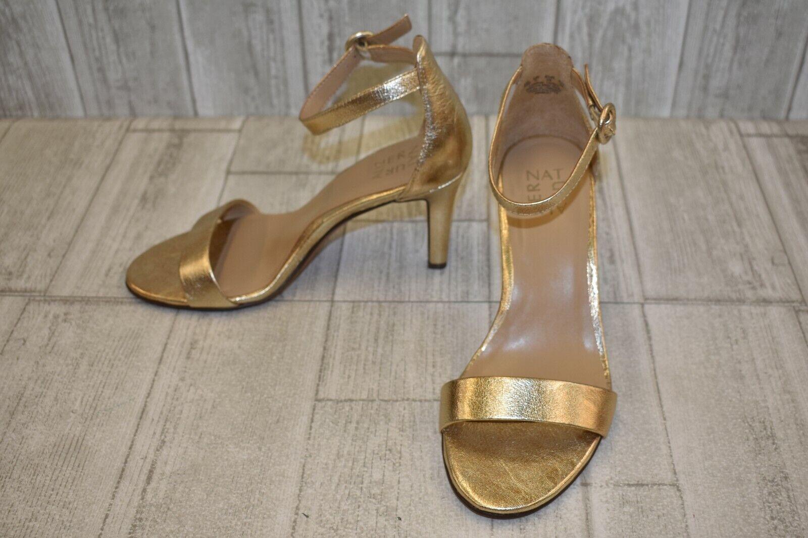 Naturalizer Kinsley Heel Sandal - Women's Size 9W, Platino