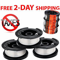Weed Eater Replacement Line String Trimmer Spool Black Decker Auto 30 Ft 3-pack