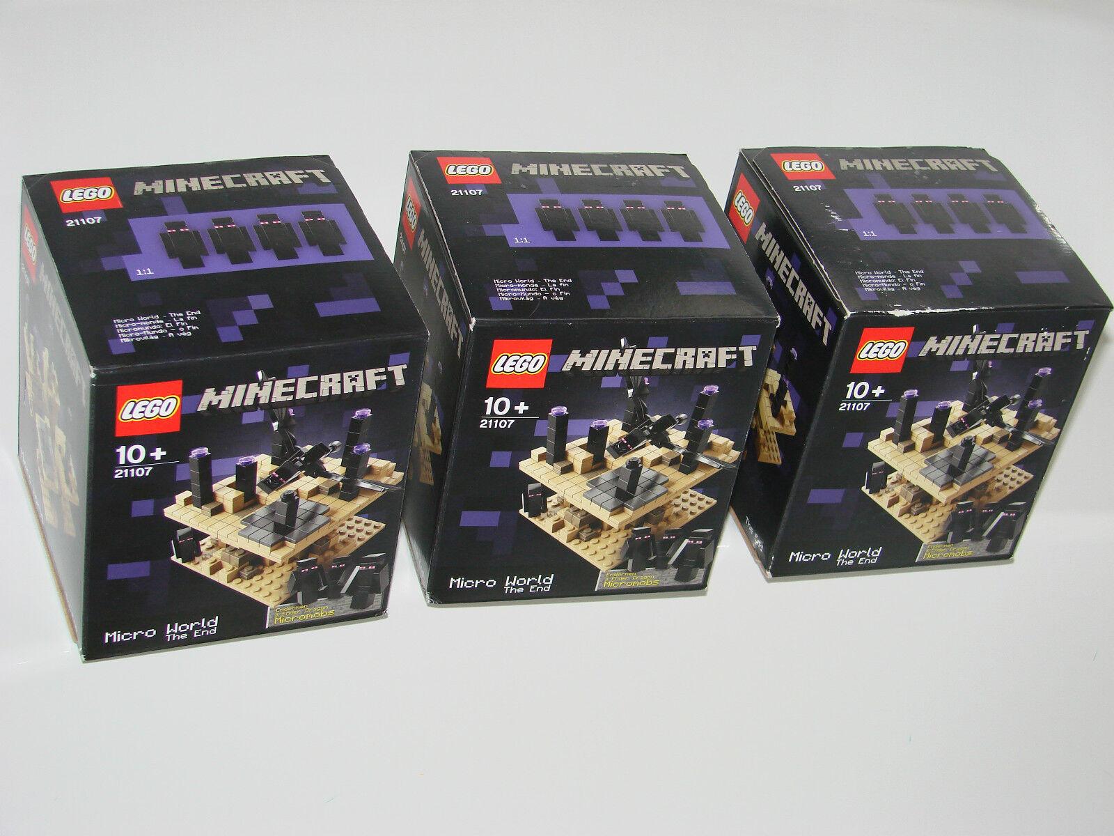 Lego ® Minecraft ™ 21107 micro World-el final de nuevo 3 unidades _ the end New misb 3 Piece