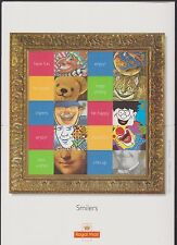 GB QEII SMILER STAMP SHEET UMM MNH 2001 LS5 GREETINGS SMILES WITH LABELS