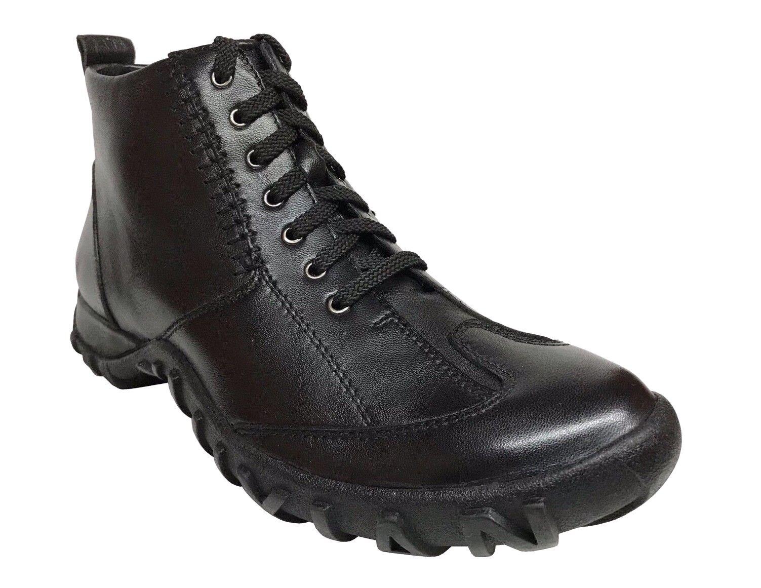 Capori Hombre Oxford De Cuero Negro botas De Deporte 7056-01