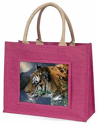 Bengalisch Nacht Tiger Große Rosa Einkaufstasche Weihnachten Geschenkidee,