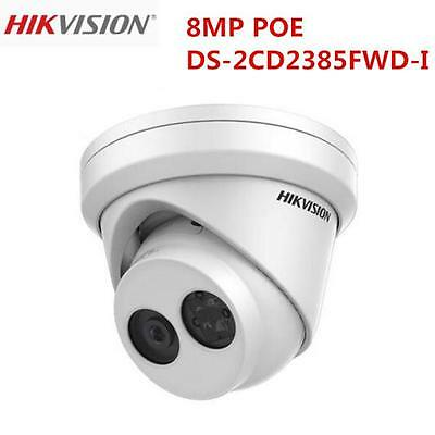 Hikvision 8MP English Version DS-2CD2385FWD-I IR POE SD Card Slot Turret Camera