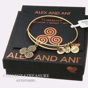c22001e00aa0d Authentic Alex and Ani Triskelion Rafaelian Gold Expandable Charm ...