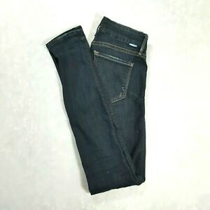 MOTHER-Womens-THE-LOOKER-JADED-Mid-Rise-Skinny-Jeans-Dark-Wash-Size-24-REGULAR