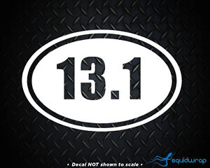 13 1 marathon sticker running oval sticker window decal