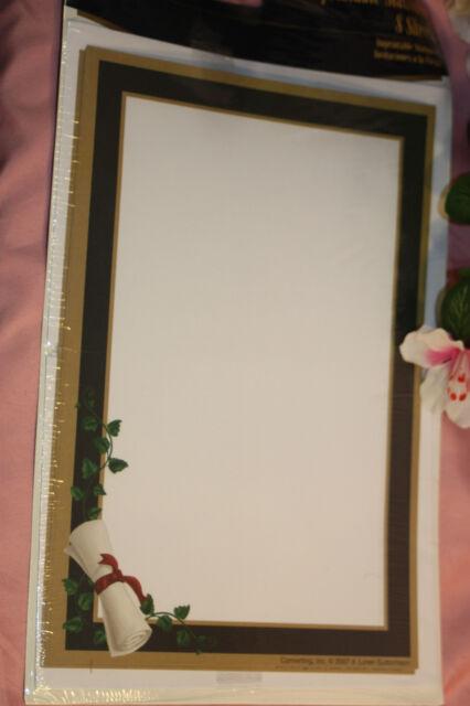 8 Sheet Graduation Stationery Printable Cardstock Paper Invitations
