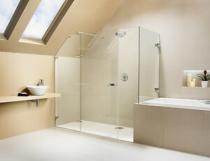 Bespoke glass shower doors panelsenclosures made to measure ebay image is loading bespoke glass shower doors amp panels enclosures made planetlyrics Gallery