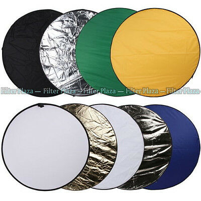 "PRO 110cm 43"" 9 in 1 Light Multi Collapsible Photo Studio Reflector Board Disc"