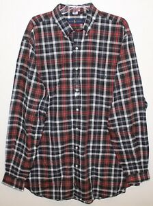 Polo-Ralph-Lauren-Big-Tall-Mens-3XLT-Red-Black-Plaid-Button-Front-Shirt-NWT-3XLT