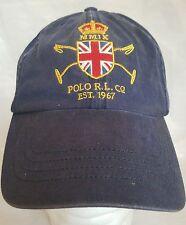 One Size Men Polo Ralph Lauren Sports Cap Hat Gold Crest Adjustable MMIX 3 *k