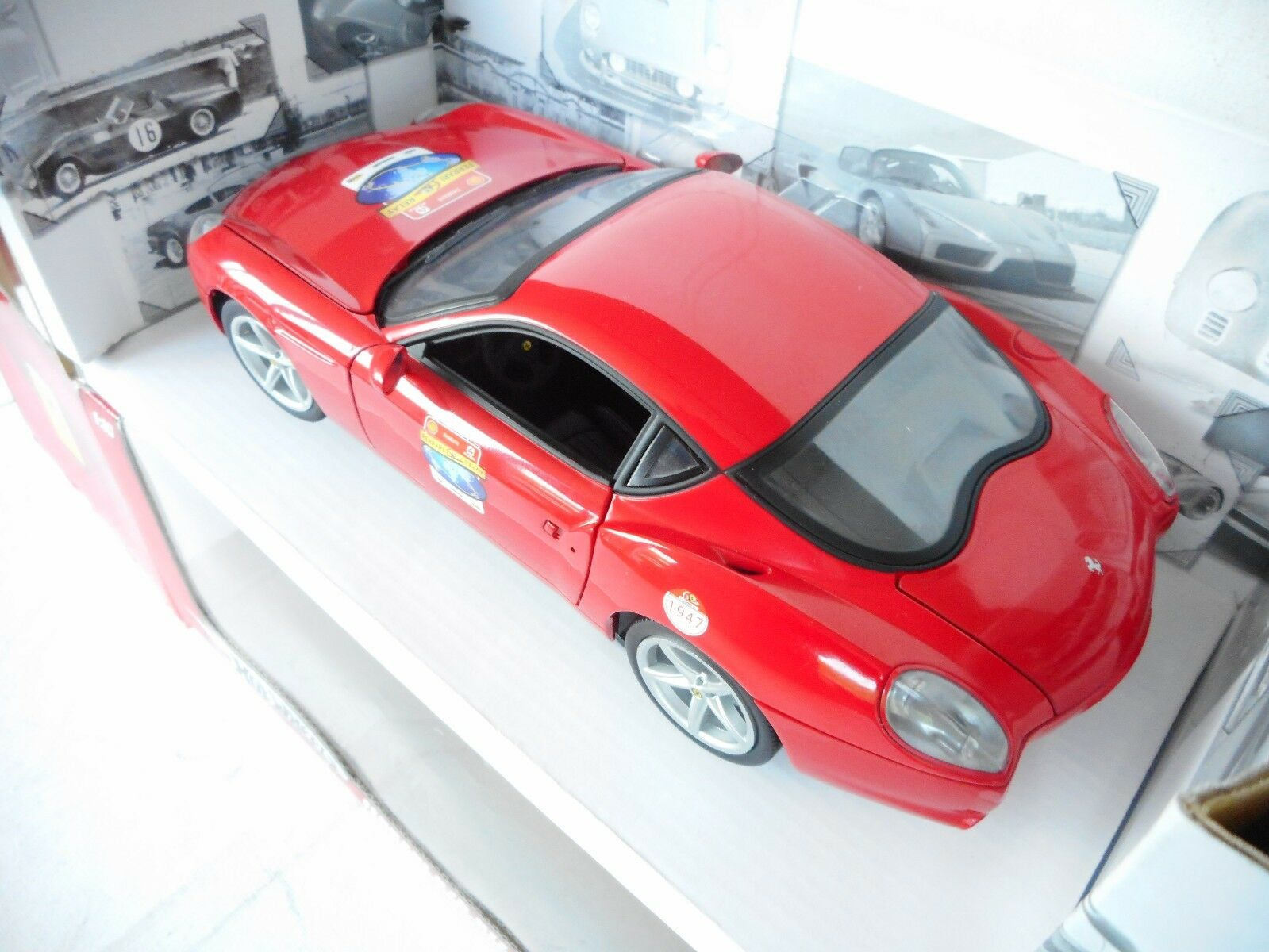 Ferrari 575 GTZ Zagato 2006 red, red, red, Modellauto 1 18   Mattel - Hot Wheels M BOX 5c2d2f