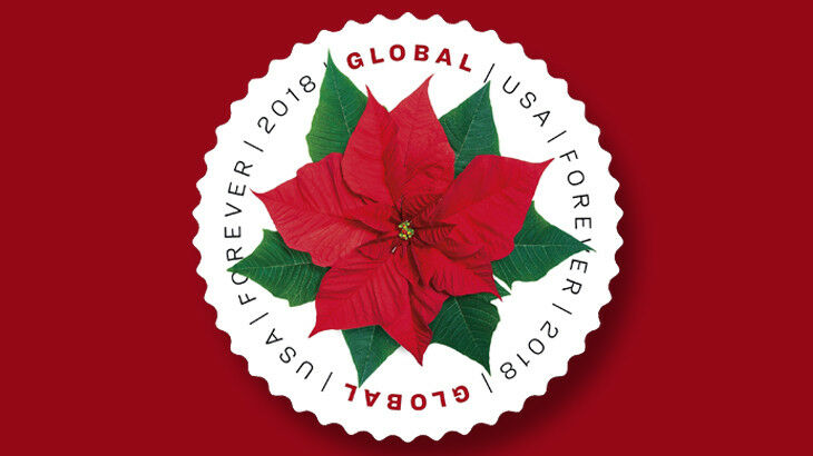 2018 $1.15 U.S.A. Poinsettia Global Forever Scott 5311