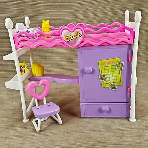 Stacie 3 In 1 Bunk Bed Bedroom Play Set Desk Closet Mattel Barbie S