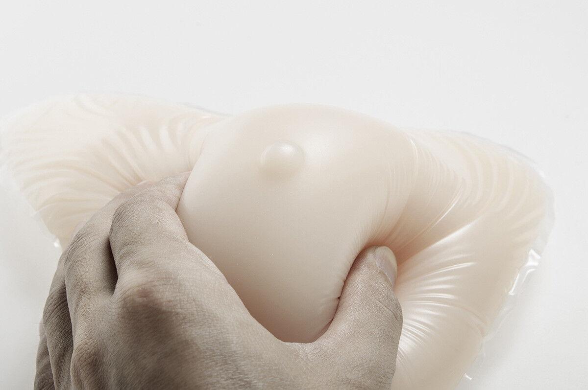 1pcs White Silicone Breast Forms Crossdresser Enhancer 530g Left 1Pc For Women's