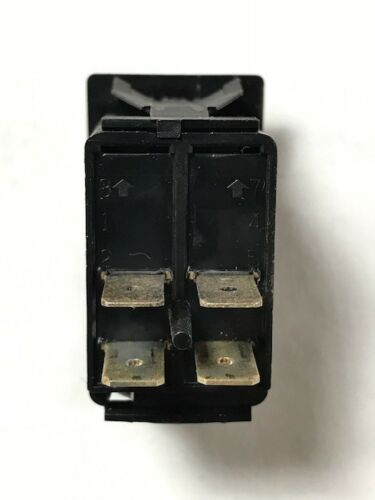 DPST 12V//20A Rocker Switch On-Off Carling Technologies Unlit