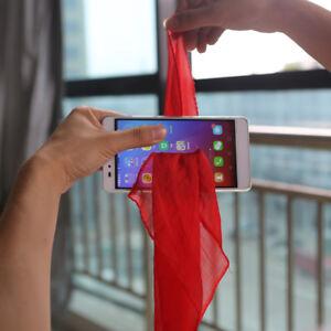 Magician Tricks Prop Silk Through Phone Close Up Professional Magic Gimmick T6