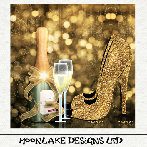 Fabric Upholstery Craft Quilting Panel Gold Hue fashion Champagne Shoes