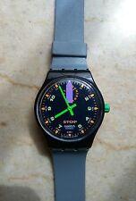 """orologio swatch STOP modello """"JESS'N RUSH""""SSB 100 anno 1992 USATO"""