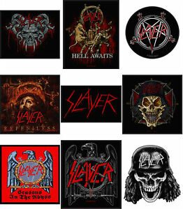 Slayer-Patch-Eagle-Repentless-Band-Logo-Official-New-Black-Woven-Sew-on