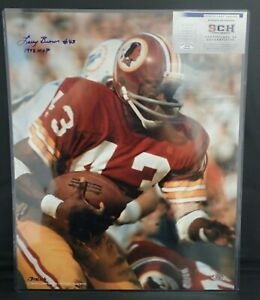 Larry-Brown-Signed-Auto-Redskins-16X20-Color-Photo-W-1972-MVP-SCH-Auth