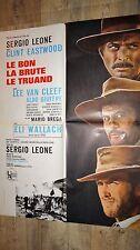 LE BON LA BRUTE LE TRUAND ! sergio leone clint eastwood affiche cinema western