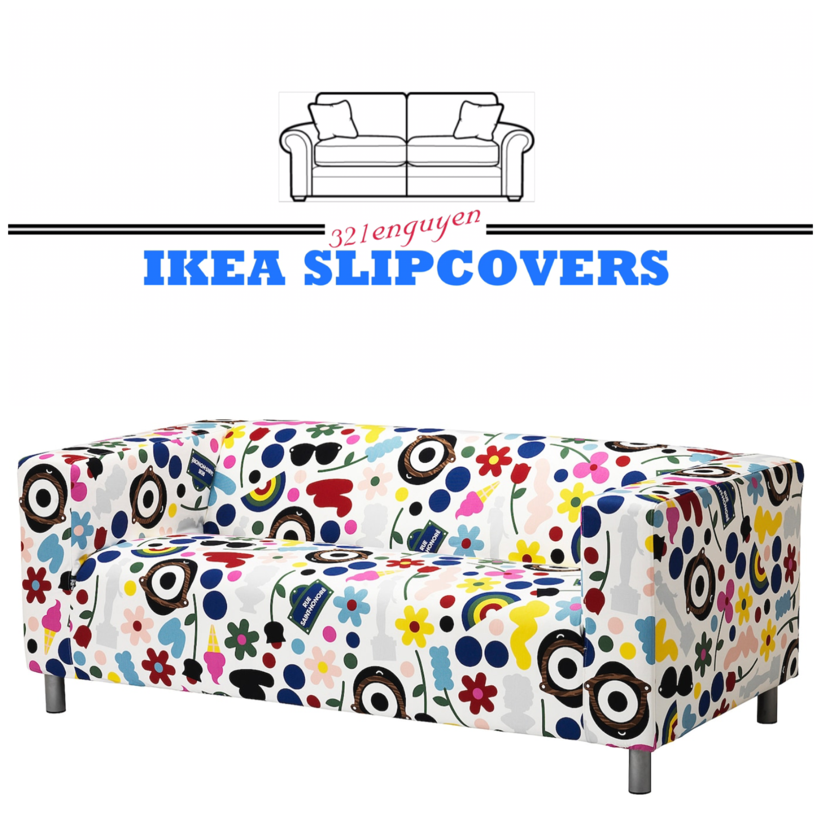 Stupendous Ikea Klippan Slipcover Fornyad Multicolored Loveseat Cover Removable 804 261 41 Ibusinesslaw Wood Chair Design Ideas Ibusinesslaworg