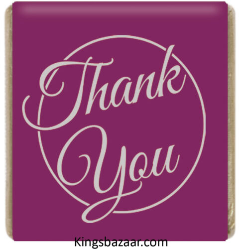 1000x Purple Thank You Neapolitan Chocolates Favours Individual Foil Wrapped