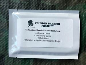 Mystery-baseball-HOT-PACK-15-cards-relic-hit-Wounded-Warrior-donation