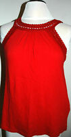 Lucky Brand Women's Red Crochet Tank Top Size S Style 7wd6855