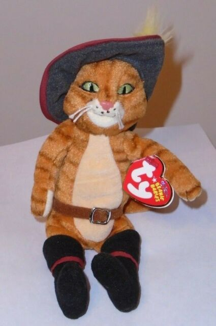 5e171be4787 Ty Beanie Babies Shrek Plush Puss in N BOOTS Doll 2007 P11 for sale ...