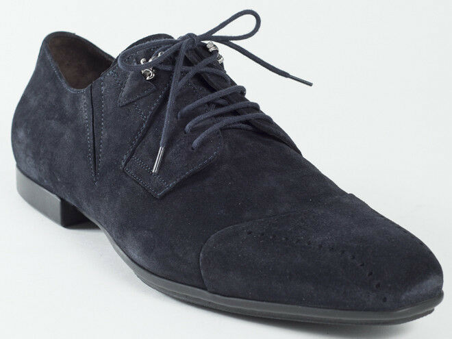 designer online New  Cesare Paciotti Lace Up Up Up Navy Suede scarpe US 11  qualità garantita