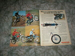 1976 honda xl motorcycle ad 4 models xl 350 xl 250 xl 175. Black Bedroom Furniture Sets. Home Design Ideas