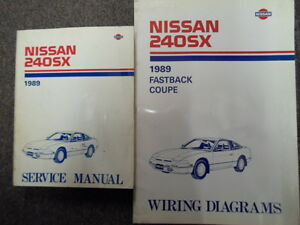1989 nissan 240sx service repair shop manual set factory w wiring rh ebay com 1992 nissan 240sx service manual 1995 nissan 240sx service manual