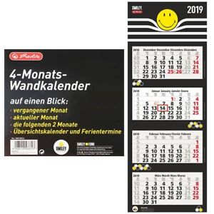 Herlitz-4-Monats-Wandkalender-Viermonatskalender-Kalender-2019-SmileyWorld