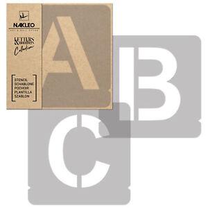Pochoirs-Lettres-et-Chiffres-50mm-Modern-Sans-Majuscule-Alphabet-Nombres
