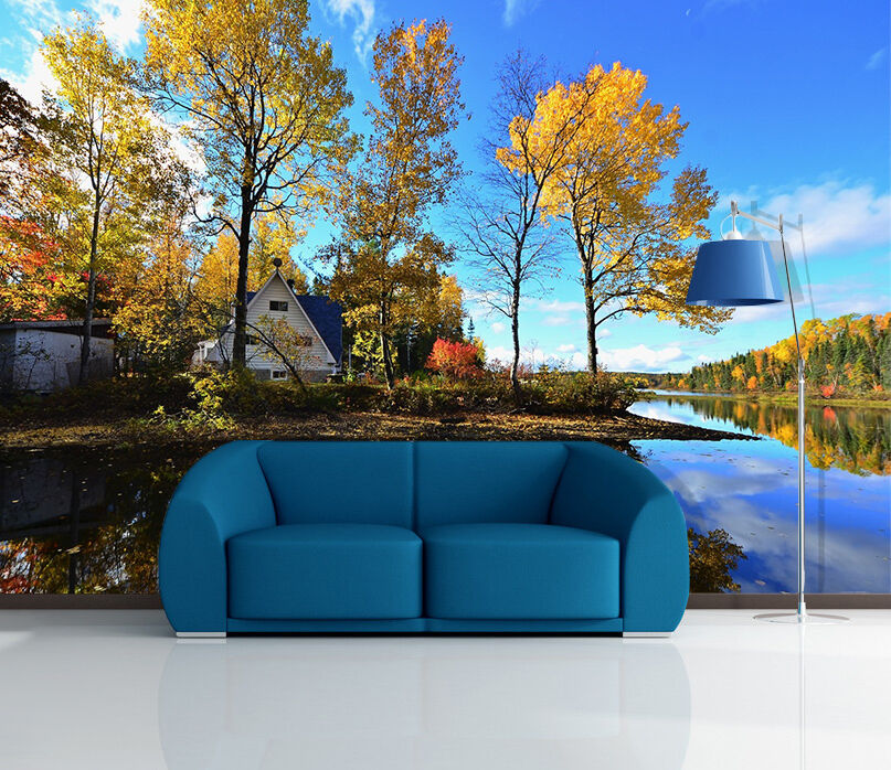 3D Riverside Forest House 86 Paper Wall Print Wall Decal Wall Deco Indoor Murals
