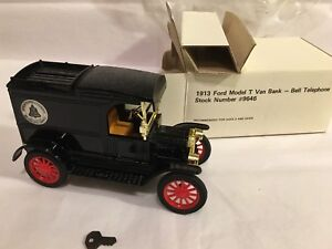 1913-FORD-MODEL-T-VAN-BANK-BELL-TELEPHONE-BY-ERTL-NUMBER-9646-NEW-LDX