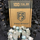 NEW Tiberius Arms First Strike Paintball Rounds - 100 Count - Grey/Blue