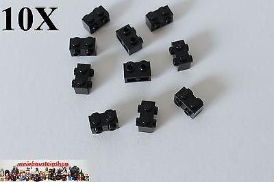 LEGO® 10x Stein 1x1 mit 4x Noppen seitlich dunekgrau 4733 NEU