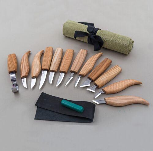 Wood Carving Tools Set Top Kit de 12 Outils Ciseaux Set couteaux ciseaux beavercraft