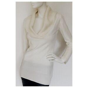 new concept 0fb00 b34ed Details zu Pullover, Damen, Feinstrickpullover, Sweater, Kragen, Offwhite, M