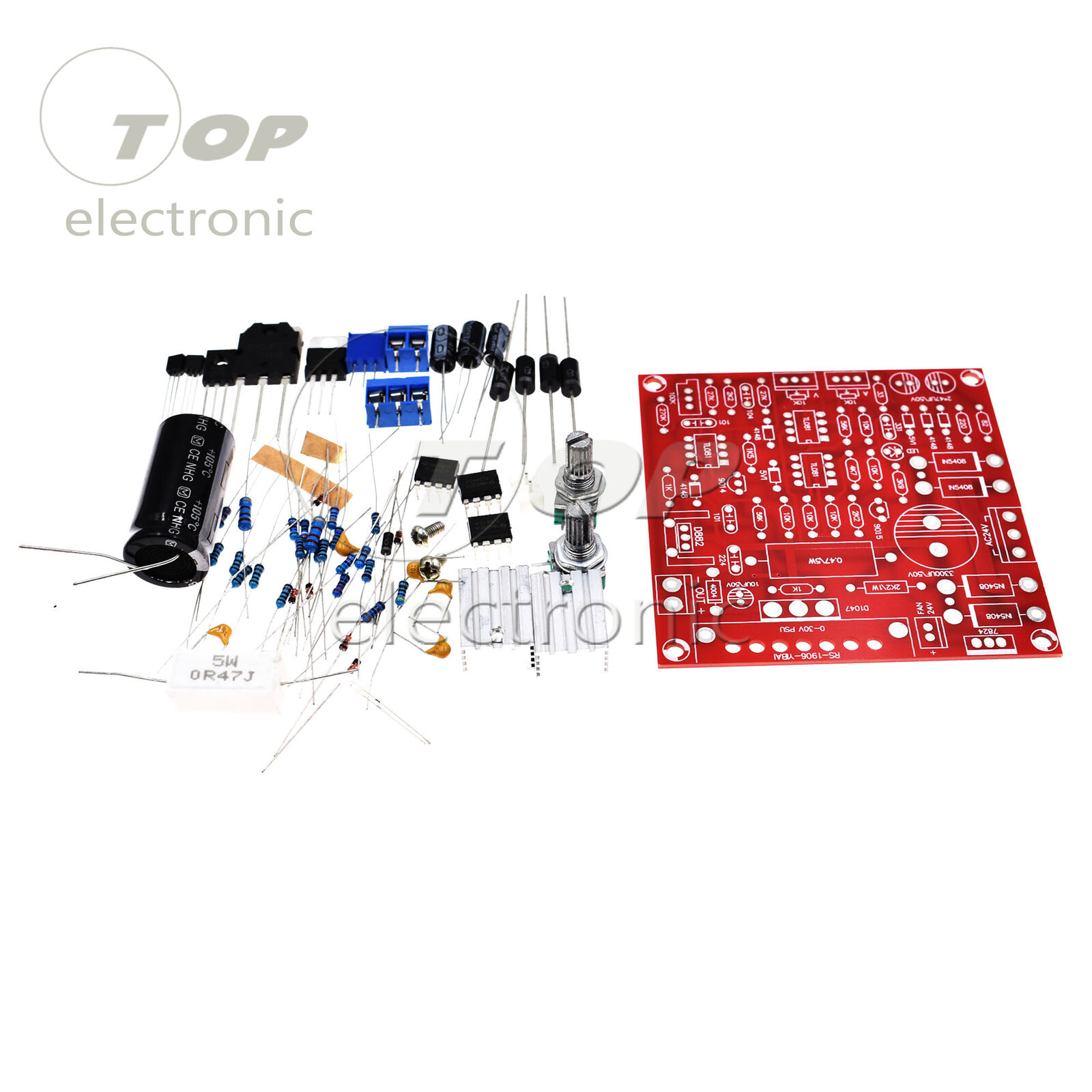Red 0 30v 2ma 3a Continuously Adjustable Dc Regulated Power Supply 3 30 V 25 A Diy Kit Pcb Ebay