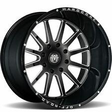 4 New Hardcore Off Road Hc13 Gloss Black Milled 22x12 8x65 Chevy Gmc 2500 22