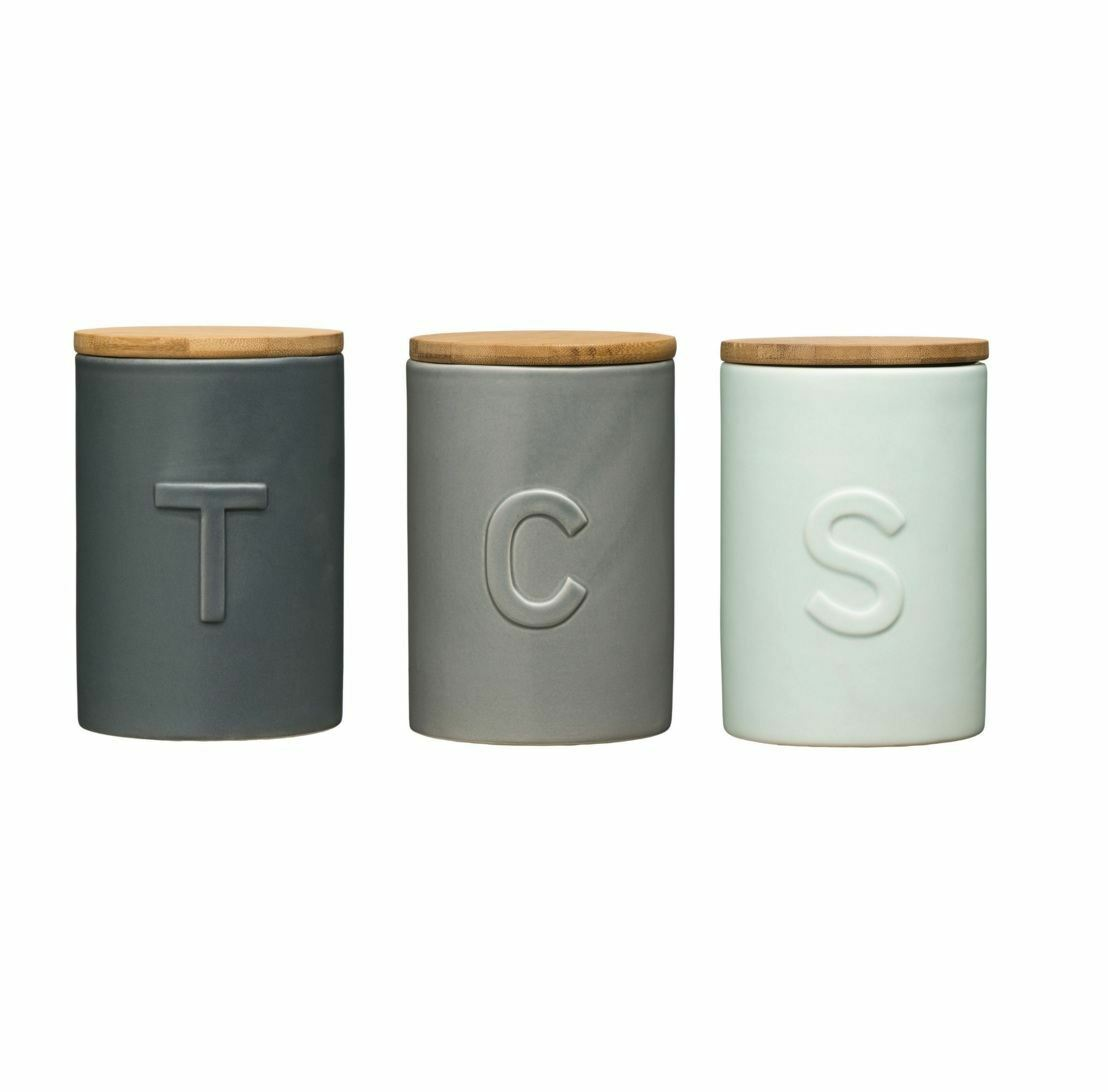 Details about fenwick tea coffee sugar canisters storage solution complementary design jars