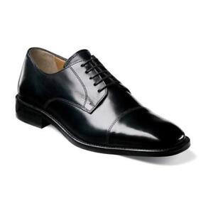 Florsheim-Imperial-Lawrence-Mens-shoes-Oxford-Black-blucher-Leather-18194-01